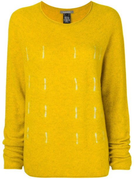 SUZUSAN jumper women fit yellow orange sweater