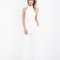 Champagne taste halter jumpsuit in white at flyjane