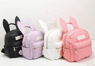 bag pink purple white bubby backpack purse