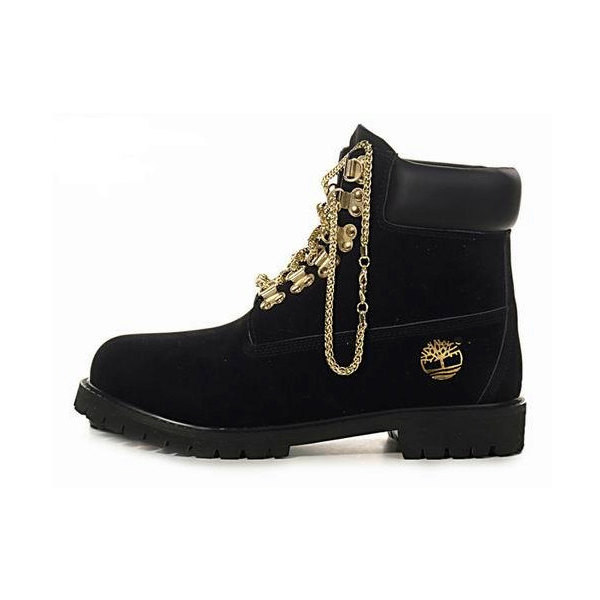 Gold Chain Timberlands - Polyvore