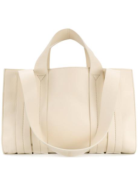 Corto Moltedo - Costanza M tote - women - Nappa Leather - One Size, White, Nappa Leather