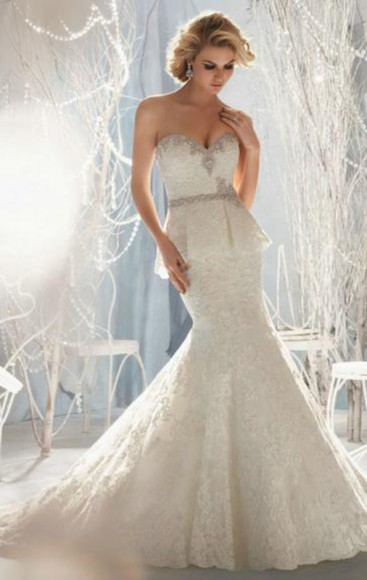 dress long wedding dress amazing mermaid / trumpet