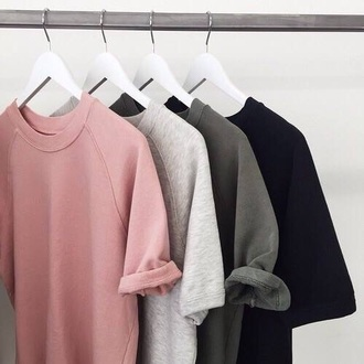 shirt grey t-shirt black top grey top top basic sweater pin grey t-shirt pink black cool summer green sweter type tumblr aesthetic grunge nude beige cute pastel white love fashion girl vibes t-shirt dress pink t-shirt black t-shirt pink shirt name please tumbler clothes cottonshirt