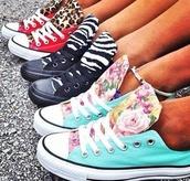shoes,converse,all star,black,leopar,blue,snikers