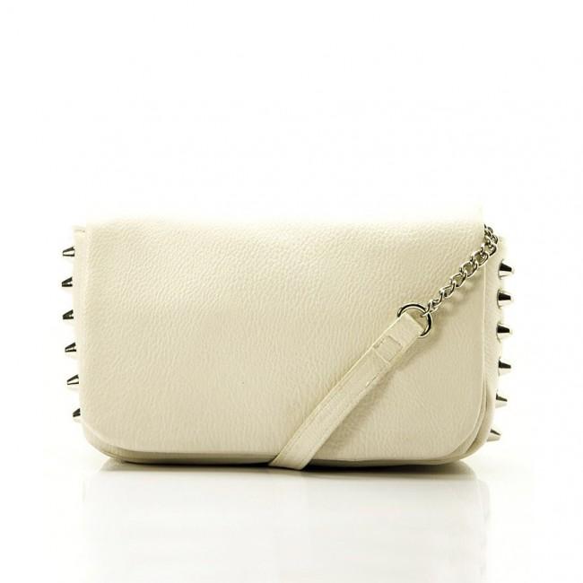 White rivet sling bag