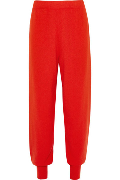 pants track pants red