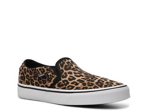 Vans Asher Leopard Slip-On Sneaker - Womens b8829ffc8