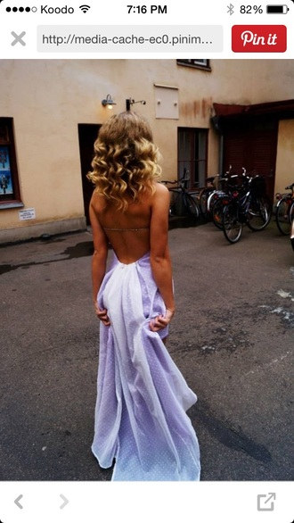 prom dress white purple dress