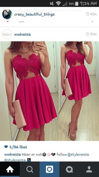 dress red dress lace dress high heels mesh dress style cute dress cute high heels gorgeous dress