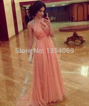 Aliexpress.com : buy 2015 new design sexy long a line halter neckline short sleeve sequined pink evening dresses party dress custom made dyp75 from reliable dress caftan suppliers on roman holiday wedding dresses