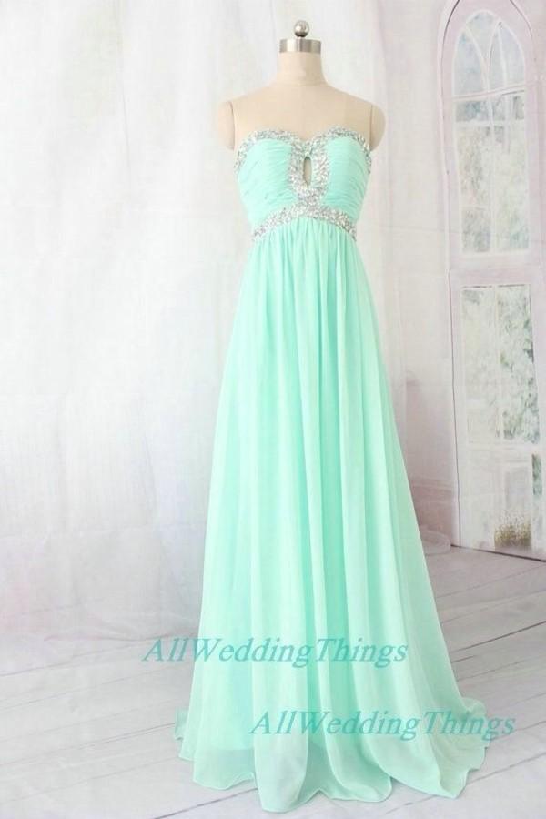 dress mint prom dress nail polish