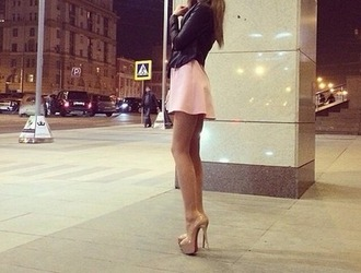 jacket heels high heels nude nude high heels nude skirt nude dress super high heel leather jacket black leather skirt clubwear louboutin