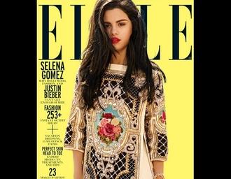 dress selena gomez foulard print scarf print