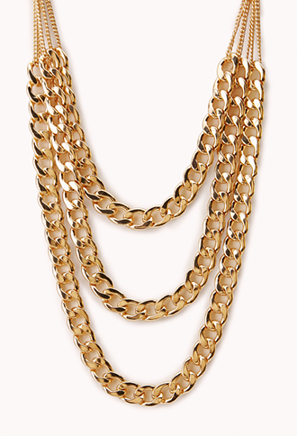 Underground Layered Chain Necklace | FOREVER 21 - 1000073277