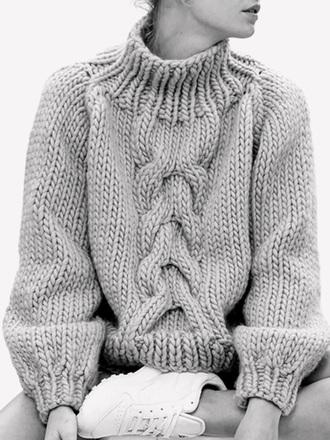 sweater knitwear knitwear sweater grey turtleneck grey sweater