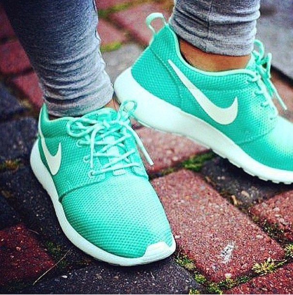 shoes nike running shoes mint green shoes