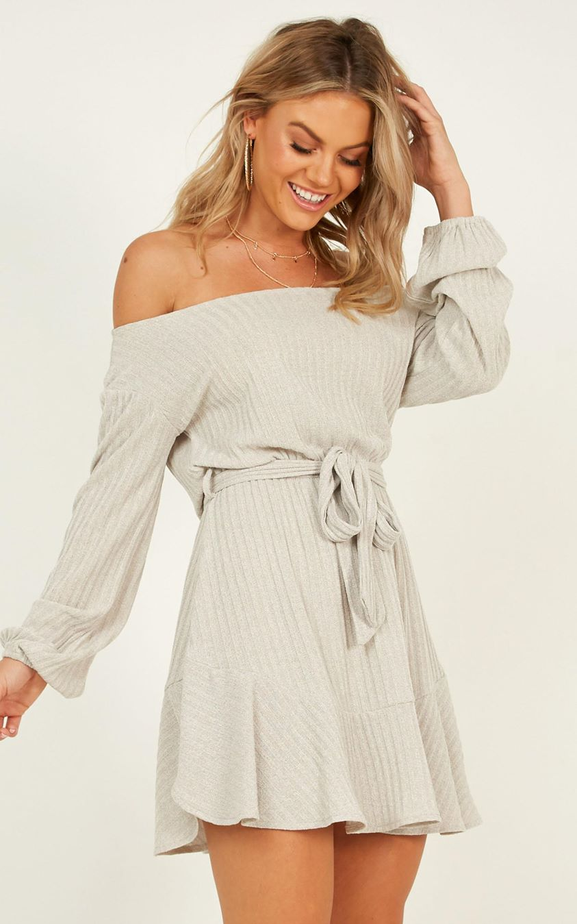 Showpo Total Relaxation Dress in grey marle - 6 (XS) Dresses
