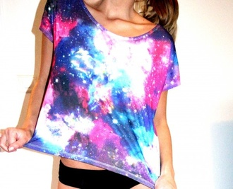 shirt blouse galaxy print