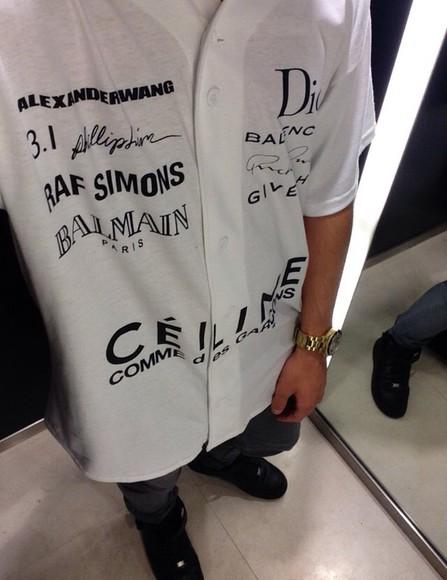 t-shirt celine dior brand names blouse