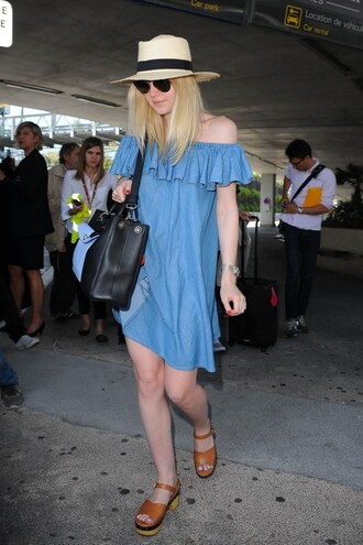 dress denim denim dress dakota fanning sandals summer dress off the shoulder