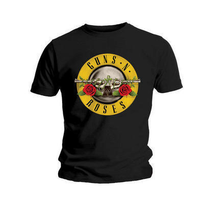 Guns n roses classic logo official mens tshirt
