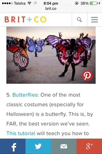 top butterfly costume butterfly wings colourful halloween dress up