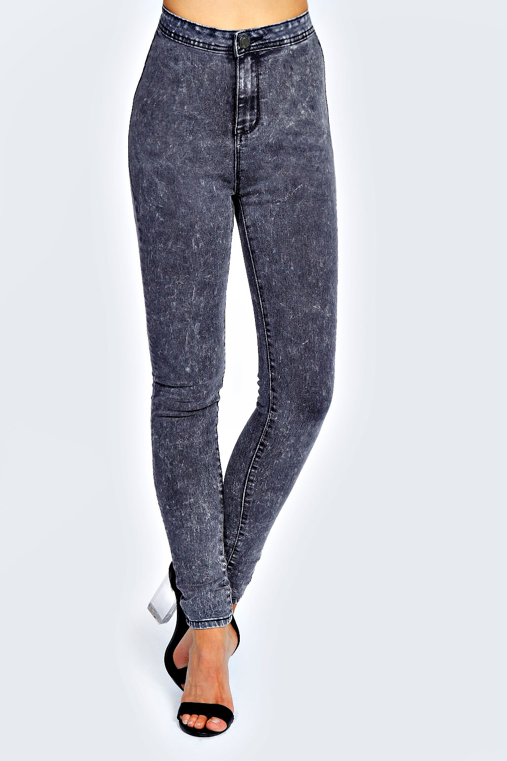 Lucy Acid wash Stretch Tube Jeans