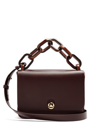 spring bag leather burgundy