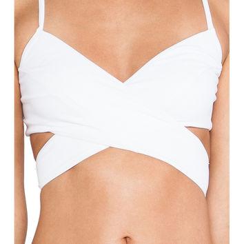 Rachel Pally Roatan Bikini Top in White on Wanelo