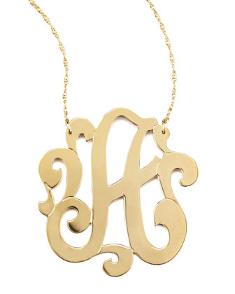 Jennifer Zeuner Swirly Initial Necklace - Neiman Marcus