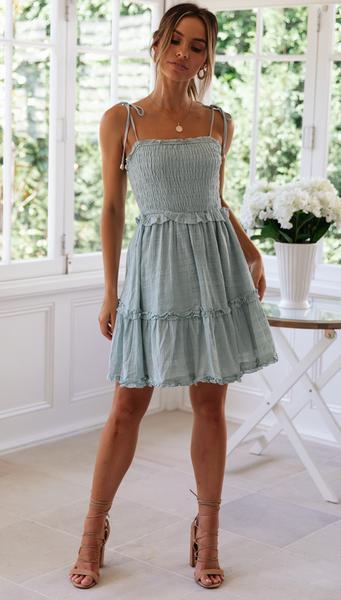 Dita Mini Dress (Sage)