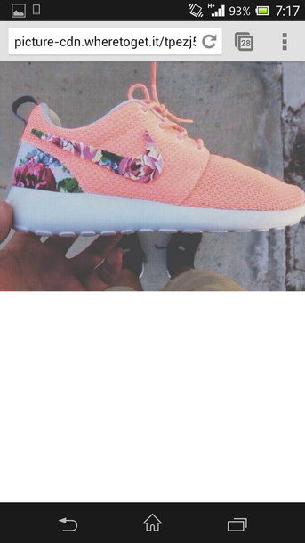 shoes nike roshe run peach nike roshe run nike running shoes nike shoes pink shoes