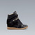Zara New Wedge Sneaker Studs Studded Black Gold Fashion BLOGGER New Season | eBay