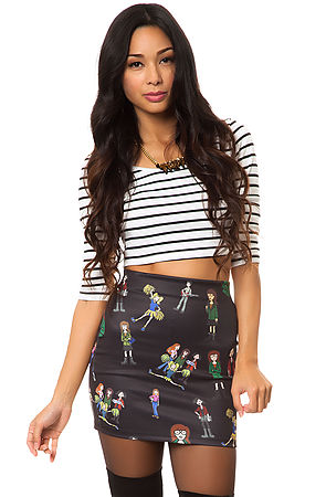 O-Mighty Skirt Daria in Black -  Karmaloop.com