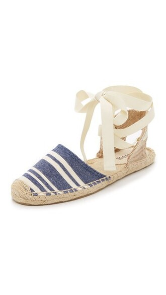 candy sandals navy white shoes