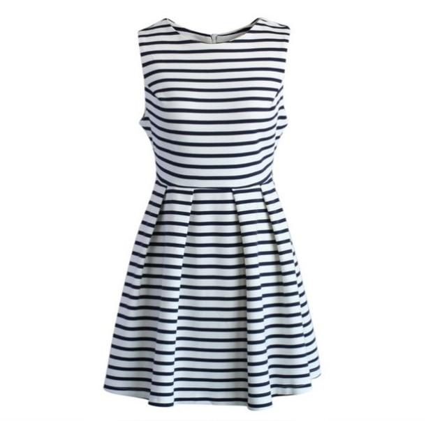 dress summer stripes white