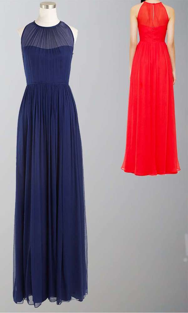 Dress long prom dress long bridesmaid dress sleek prom for Long sleek wedding dresses