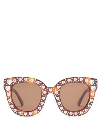heart embellished sunglasses