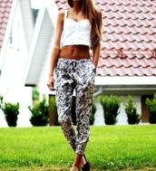 pants,snake print pants