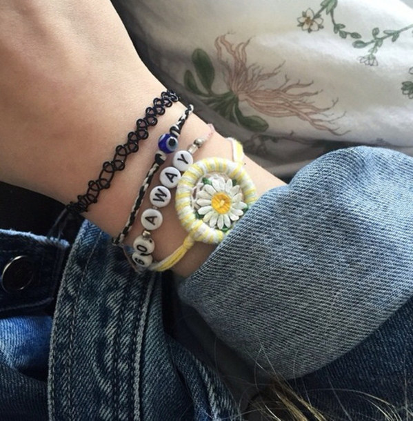 jewels daisy tumblr bracelets grunge