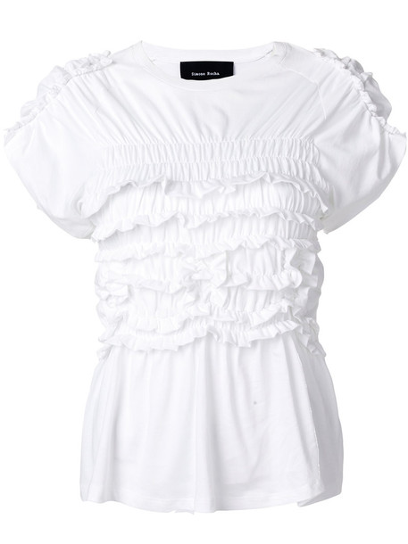 Simone Rocha t-shirt shirt t-shirt women white cotton top
