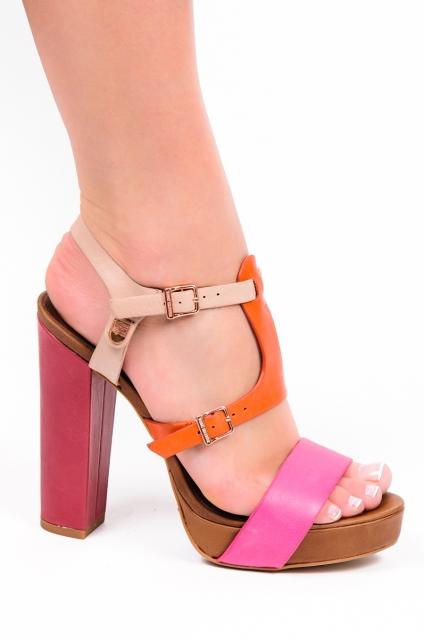 Obcasy I Szpilki Tommy Hilfiger Tommy Hilfiger Sanda Y Ashley 6 Bright Pink Red Orange Buty