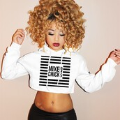 sweater,sweatshirt,mixed girl,blouse,shirt,tshirt.,top,jadah doll,hairstyles,crop tops,white crop tops,long sleeve crop top,long sleeves,leather leggings,black leggings,leggings,cropped hoodie,jacket,hoodie,white hoodie,white sweater,cropped sweater