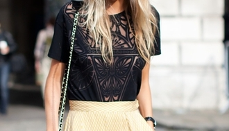 fashion blouse streetstyle details black blouse poppy delevigne lace shirt cute blacklace see through