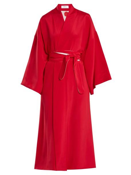 Racil dress wrap dress silk red