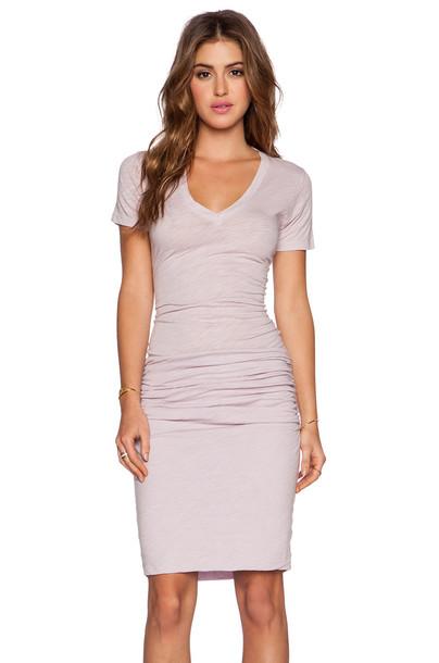 Monrow dress v neck dress v neck purple