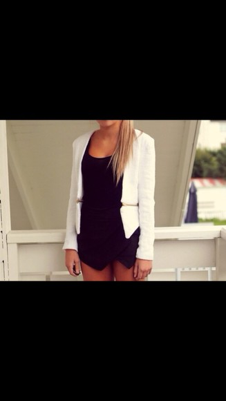 white blazer jacket jumper