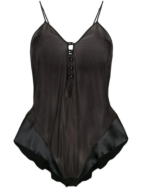 Loveday London body women lace black silk underwear