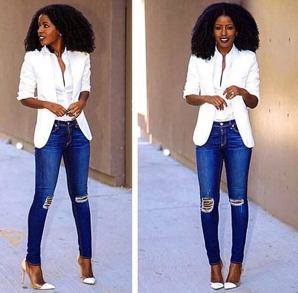 coat jeans skirt