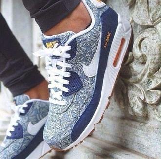 shoes nike air air max blue shoes